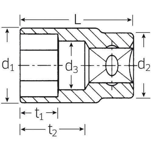"""5 мм/ 1/4"""" Торцевая головка 40D Stahlwille (Германия)"""