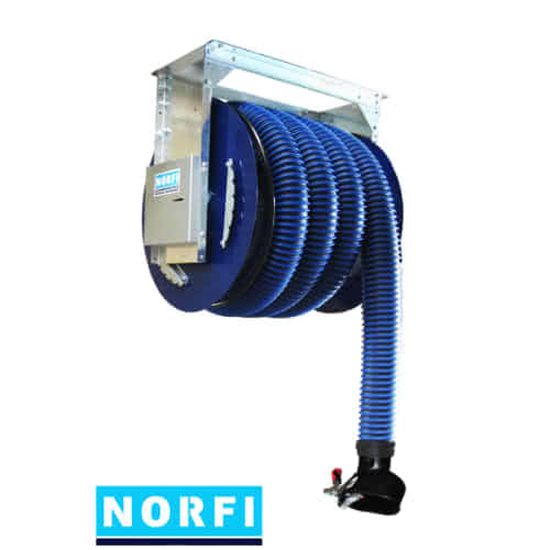 Вытяжная катушка с пружинным приводом, включая вентилятор. Norfi (Германия)