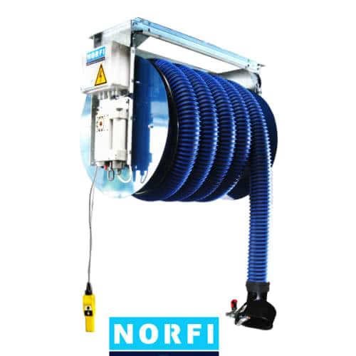 Вытяжная катушка с электроприводом,включая вентилятор. Norfi (Германия)