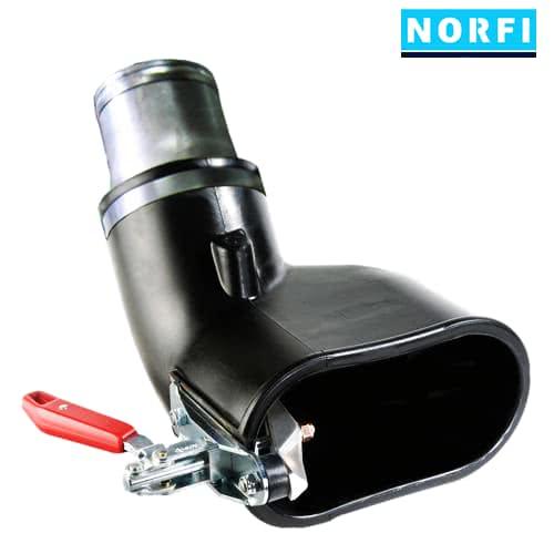 Вытяжная насадка с механическим зажимом 205х110мм DN100. Norfi (Германия)