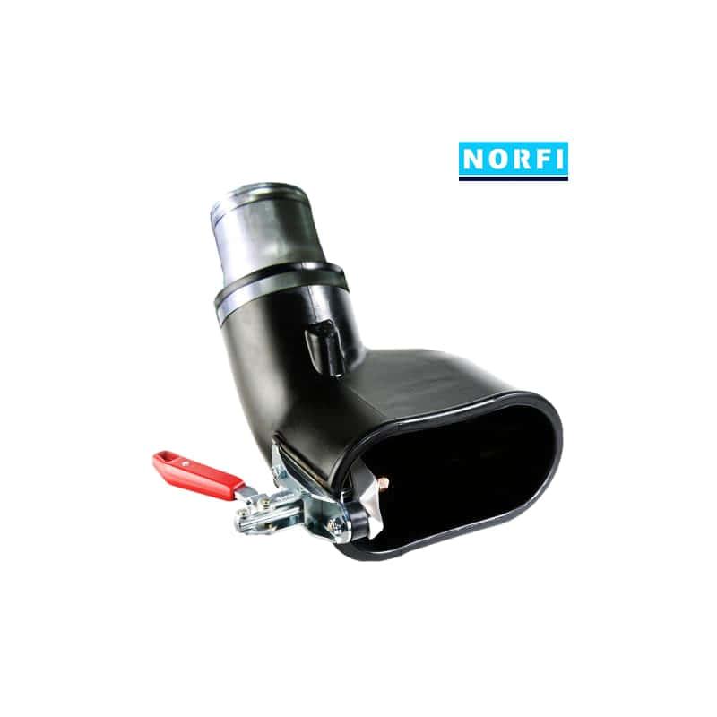 Вытяжная насадка с механическим подсоединением 155х85мм DN75. Norfi (Германия)