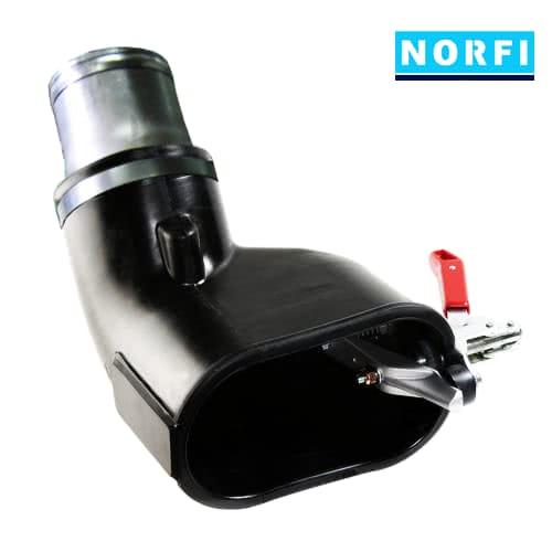 Вытяжная насадка с левосторонним зажимом 205х110мм DN100. Norfi (Германия)