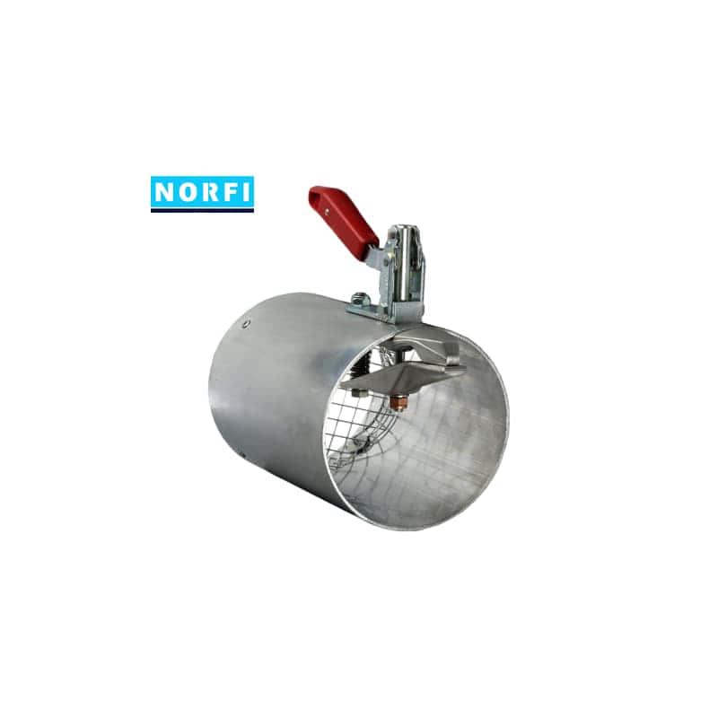 Вытяжная насадка с механическим подсоединением Ø71мм DN75. Norfi (Германия)