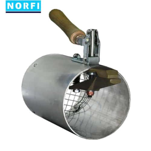 Алюминиевая высокотемпературная вытяжная насадка с мех. зажимом Ø119мм DN125. Norfi (Германия)