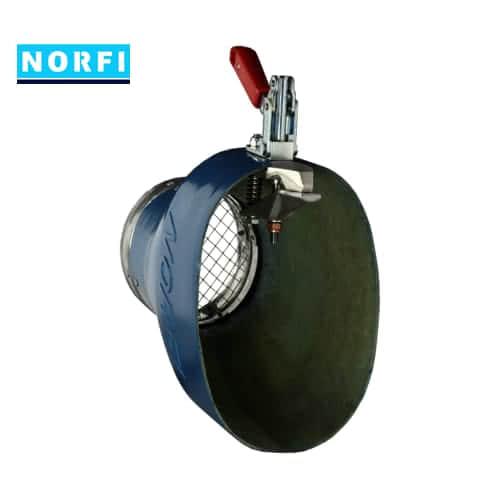 Вытяжная насадка с механическим подсоединением 225x175мм DN150. Norfi (Германия)