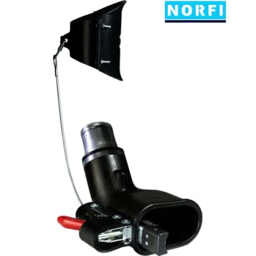 Вытяжная насадка, самоотсоединяющаяся, с механическим подсоединением 155х85мм DN75. Norfi (Германия)