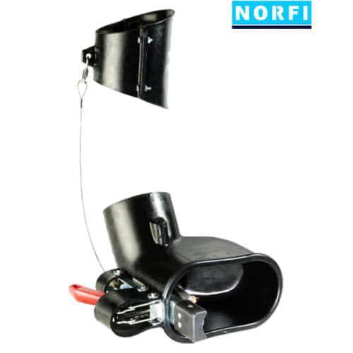 Вытяжная насадка, самоотсоединяющаяся, с механическим подсоединением 205x110мм DN125. Norfi (Германия)
