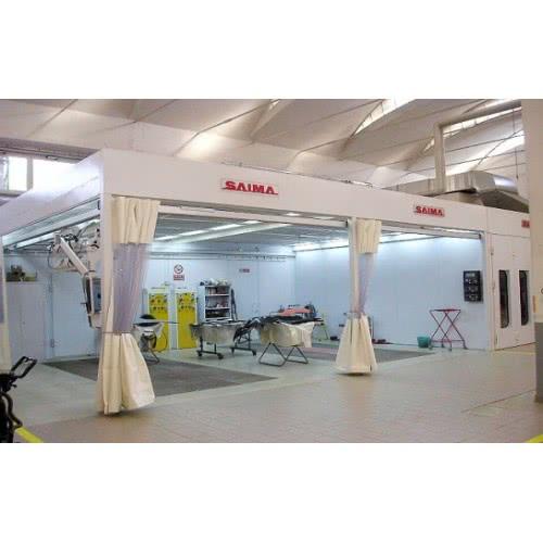 Пост подготовки к окраске с диагональной вытяжкой, освещ. 24 лампы PREP KLEEN 4000. Saima (Италия)