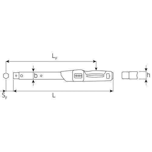 730N/2 Динамометрический ключ 2 - 20 Нм, с держателем для сменного инструмента Stahlwille (Германия)