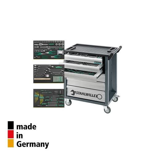 Инструментальная тележка Stahlwille 90/6A + 805/3, 6 ящиков с набором инструментов 132 шт (Германия)